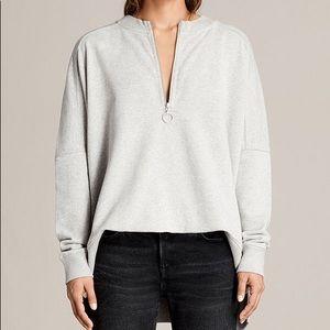 All Saints 'Artillery' Sweatshirt in Grey